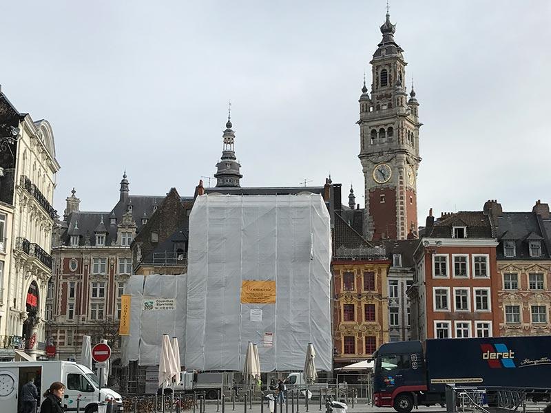 Ravalement façade Grand Place à Lille